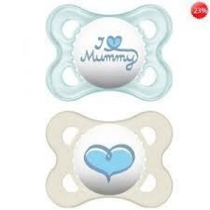 Mam I Love Daddy & Mummy Πιπίλες Σιλικόνης 0-6 Μηνών 2τμχ