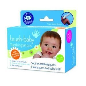Brush-Baby Teething Wipes 20 τεμαχια