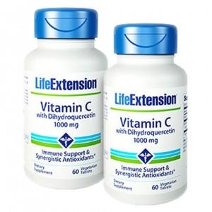 Life Extension VITAMIN C Bio-Quercetin Phytosome 1000mg 60vegetarian Tablets