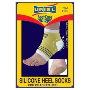 Uriel Silicone Heel Socks Κάλτσα σιλικόνης με κρέμα για σκασμένες φτέρνες.
