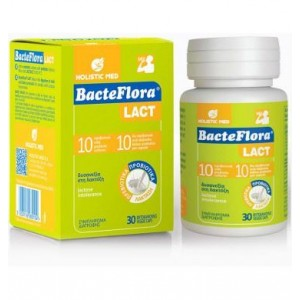 Bacteflora Lact - Συμβιωτικό Υψηλής Συγκέντρωσης Προβιοτικών 30 Capsules