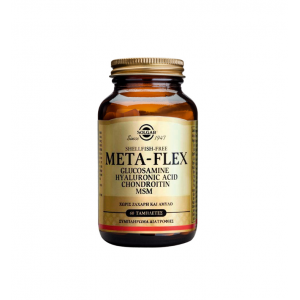 SOLGAR - META-FLEX Glucosamine, Hyaluronic Acid, Chondroitin, MSM | 60 tabs