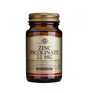 Solgar - Zinc Picolinate 22mg 100tabs
