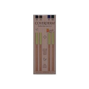 Coverderm Perfect EyeLiner Pack 2+2 ΔΩΡΟ, Σετ με 4 Eyeliner σε Μαύρο,καφέ, μπλε & πράσινο χρώμα.