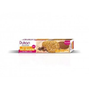 DUKAN Μπισκότα Βρώμης με επικάλυψη σοκολάτας & Σπόρους Chia, (160gr 4σακουλάκια X 4μπισκότα)