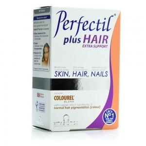Vitabiotics, Perfectil Plus Hair, Ενισχυμένη Φόρμουλα για την Καλή Υγεία των Μαλλιών, 60 tabs