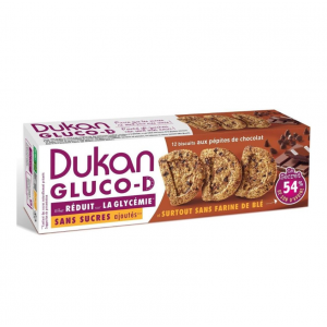 Dukan Expert GLUCO-D Μπισκότα βρώμης με κομμάτια σοκολάτας, 100gr