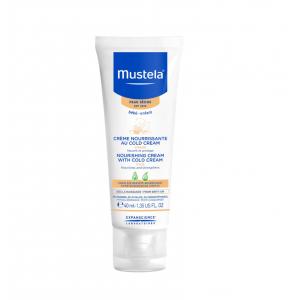 Mustela Bebe Creme Nourrissante au Cold Cream Visage Θρεπτική Κρέμα για το βρεφικό πρόσωπο, 40ml
