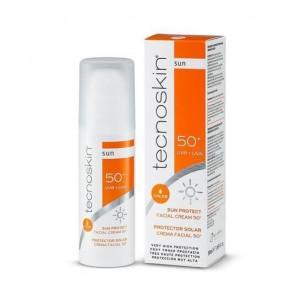 Tecnoskin Sun Protect Facial Cream Color SPF50+ Αντηλιακή Κρέμα Προσώπου με Χρώμα , 50ml