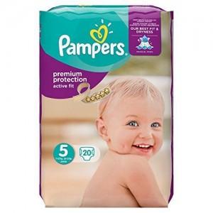 Pampers Πάνες Premium Protection Active Fit Baby Μέγεθος 5 (Junior) 11-23Kg 20 Πάνες