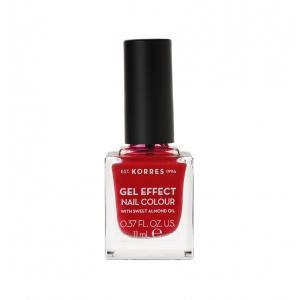 Korres Gel Effect Nail Colour Βερνίκι Νυχιών Νο 51 Rosy Red 11ml