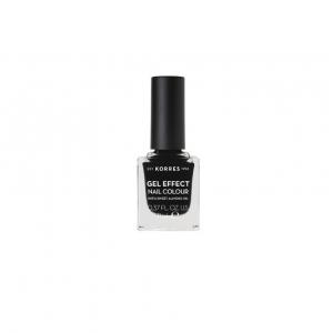 Korres Gel Effect Nail Colour, Βερνίκι Νυχιών No100 Black 11ml