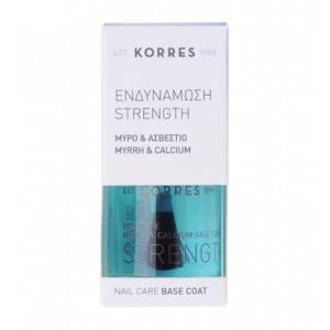Korres Strength Base Coat Ενδυνάμωσης Νυχιών με Μύρο & Ασβέστιο 10ml
