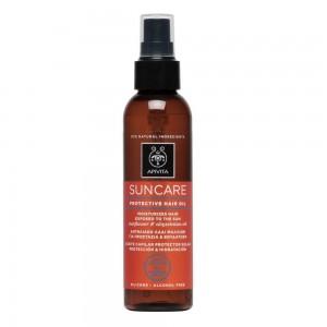 Apivita Suncare Protective Hair Oil Αντιηλιακό Λάδι Μαλλιών, 150ml