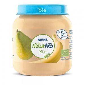 Nestle Naturnes Bio Βιολογικό Βρεφικό Γεύμα Αχλάδι Μπανάνα 5 μηνών+
