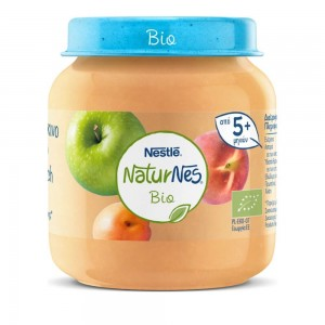 Nestle Naturnes Bio Βιολογικό Βρεφικό Γεύμα Μήλο Ροδάκινο Βερίκοκο 5 μηνών+ 125gr