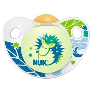 NUK Night & Day Πιπίλα Latex 0-6m Μπλε Σκαντζόχοιρος 1τμχ [10.725.965]