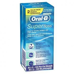 Oral B Superfloss 50 Ορθοδοντικό Νήμα
