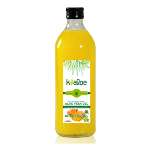 KALOE Φυσικός Χυμός Κρητικής Αλόης σε τζελ με Κουρκουμά 1Lt