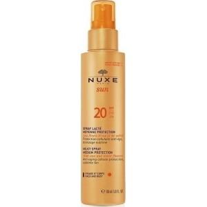 Nuxe - Sun Milky Spray Αντηλιακό Γαλάκτωμα για Πρόσωπο & Σώμα SPF20 150ml