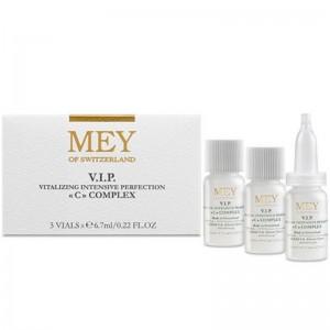 Mey V.I.P. C Complex Ορός Αντιγήρανσης 3 x 6,7ml. Ορός αντιγήρανσης με βιταμίνη C 5% για όλους τους τύπους επιδερμίδας.
