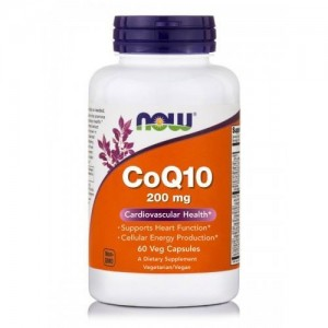Now Foods CoQ10, 200mg, 60 Veget.caps