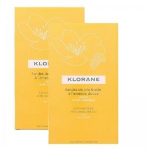Klorane - Cold Wax Strips Ταινίες αποτρίχωσης γλυκού κεριού με γλυκό αμύγδαλο (το 2ο προϊόν μόνο με 1€) - 2x6τμχ