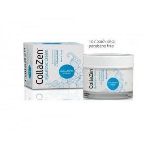 CollaZen+ Hyaluronic Cream Κρέμα Προσώπου Βαθιάς Ενυδάτωσης με Υαλουρονικό οξύ, Κατάλληλη για Όλες τις Ηλικίες, 50ml