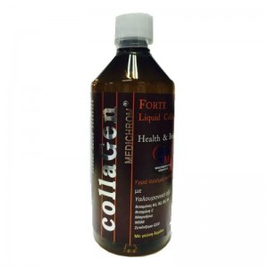 Medichrom Forte Liquid Collagen, Υγρό πόσιμο κολλαγγονο με υαλουρινικό οξύ,βιταμίνες και στέβια, γεύση ΛΕΜΟΝΙ 500ml