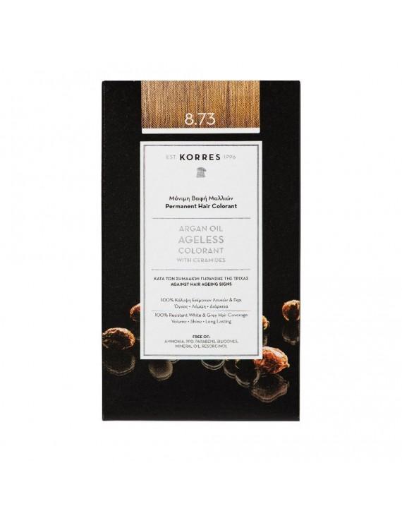 Korres Argan Oil Ageless Colorant Νο 8.73 Χρυσή Καραμέλα 50ml