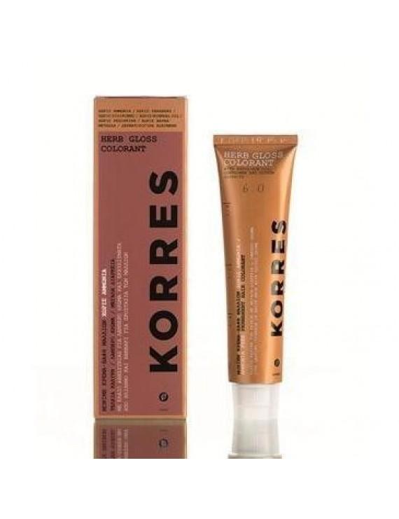 Korres Herb Gloss Colorant 5.34 ΚΑΣΤΑΝΟ ΑΝΟΙΧΤΟ ΣΟΚΟΛΑΤΙ
