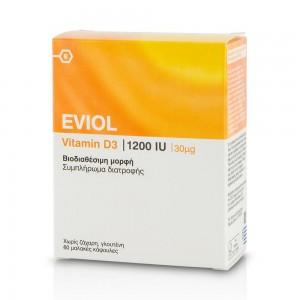 EVIOL Vitamin D3 1200IU 30μg 60 Μαλακές Κάψουλες