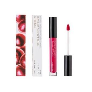 Korres Morello Matte Lasting Lip Fluid 29 Strawberry Kiss Υγρό Κραγιόν 3.4ml.