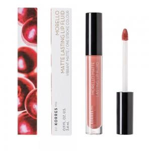 Korres Morello Matte Lasting Lip Fluid 06 Romantic Nude 3.4ml