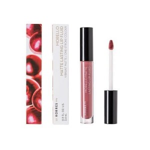 Korres Morello Matte Lasting Lip Fluid 10 Damask Rose Υγρό Κραγιόν 3.4ml