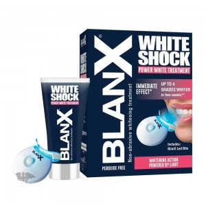 Blanx White Shock Treatment Θεραπεία Λεύκανσης Δοντιών Οδοντόκρεμα 50ml & Mασελάκι Led Bite