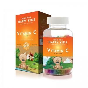 John Noa Happy Kids Gummy Bears Supplement Vitamin C  180gr. Συμπλήρωμα Διατροφής με Βιταμίνη C για Παιδιά σε Ζελεδάκια 3 Γεύσεων.