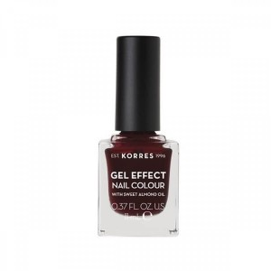 Korres Gel Effect Nail Colour With Sweet Almond Oil No.57 Burgundy Red 11ml