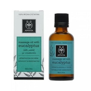 Apivita Λάδι Μασάζ Με Ευκάλυπτο Massage Oil Eucalyptus  50 ml