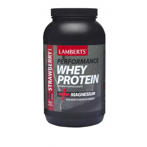 Lamberts Whey protein isolate Strawberry Πρωτεΐνη με γεύση Φραουλα σε σκόνη 1000gr