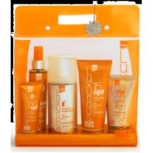 Intermed Luxurious Sun Care Medium/Low Protection Πακέτο Αντιηλιακής Προστασίας Με Υαλουρονικό Οξύ Με 5 Προϊόντα