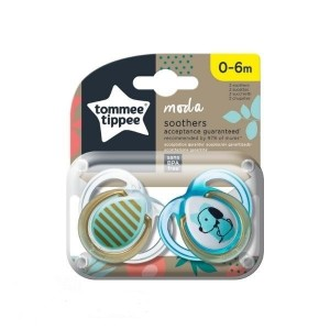 Tommee Tippee Closer To Nature Πιπίλα Σιλικόνης Moda για Αγόρι 0-6 Μηνών, 2τεμ