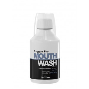 Frezyderm Mouthwash Oxygen Pro Στοματικό Διάλυμα Με Ενεργό Οξυγόνο, Βιονεργό Πεπτίδιο & Υαλουρονικό Οξύ, 250ml