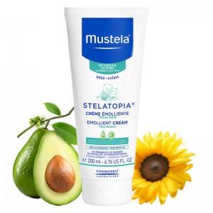 Mustela Stelatopia Emolient Creme Μαλακτική Κρέμα Προσώπου & Σώματος, 200ml