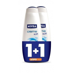 Nivea Cream Bath Creme Soft 750ml x2