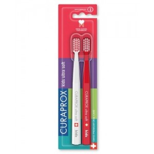 Curaprox Ultra Soft Kids Duo Pack μαλακή οδοντόβουρτσα για τα ευαίσθητα ούλα CS5460