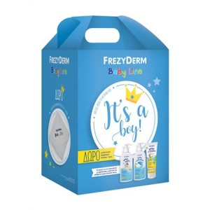 Frezyderm Promo Για Αγόρι Baby Shampoo Βρεφικό Σαμπουάν 300ml & Baby Cream Κρέμα Για Αλλαγή Πάνας 2x175ml & Κουβέρτα Αγκαλιάς