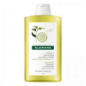 Klorane Shampoo Cedrat Σαμπουάν με εκχύλισμα κίτρου για θαμπά και άτονα μαλλιά 400ml