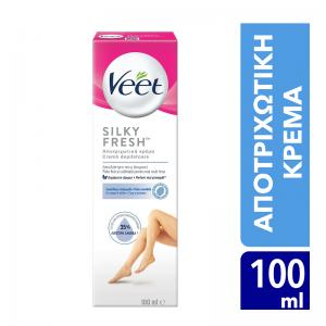Veet Silky Fresh Αποτριχωτική Κρέμα για Ευαίσθητη Επιδερμίδα, 100ml
