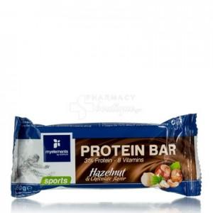 MyElements Sports Protein Bar Mπάρα Πρωτεΐνης εμπλουτισμένη με βιταμίνες, με γεύση Φουντούκι & Σοκολάτα, 60gr